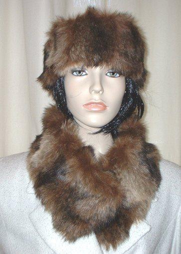 Russian Sable Faux Fur Long Collar