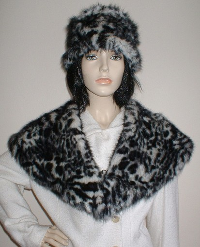 Panther Faux Fur Shawl Collar