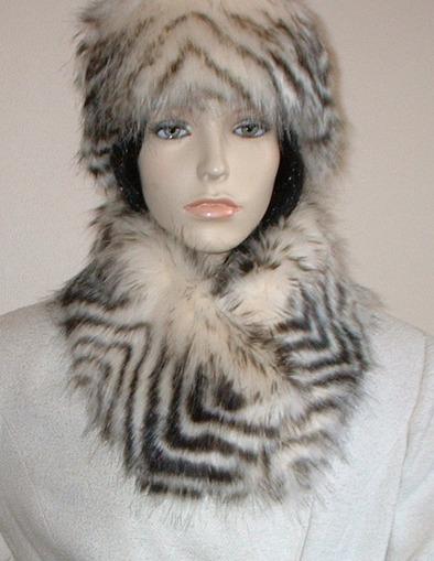Sumatra Tiger Faux Fur Long Collar