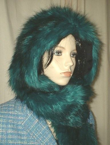 Jade Faux Fur Hoodie