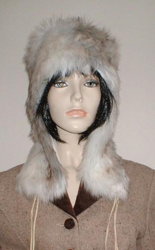 Snow Wolf Faux Fur Trapper Hat