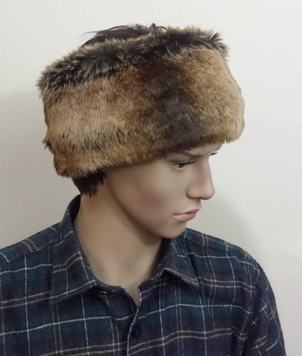 Mens Madagascar Faux Fur Headband