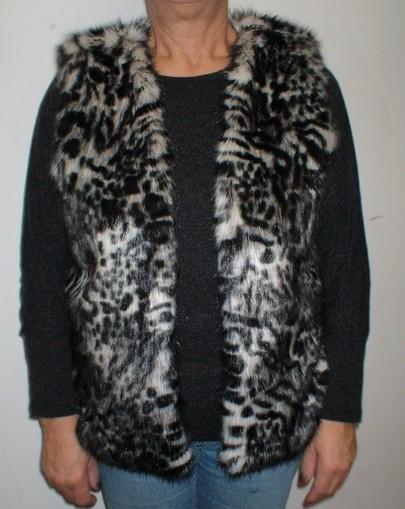 Panther Faux Fur Gilet