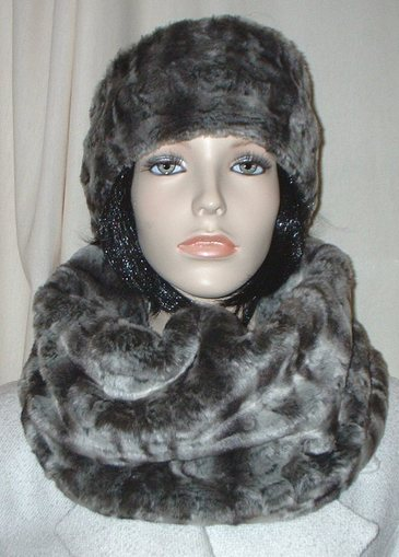 Vintage Silver Astra Faux Fur Cowl