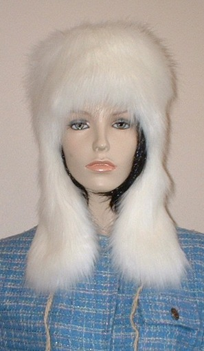 Polar Bear  Faux Fur Trapper Hat