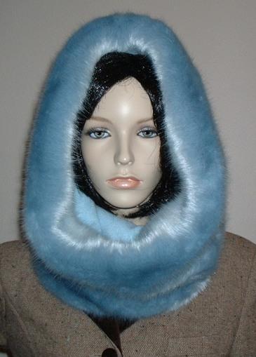 Powder Blue Faux Fur Cowl/Neck Warmer