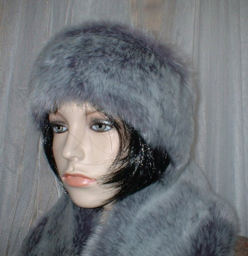 Silver Lavender Fox Faux Fur Headband