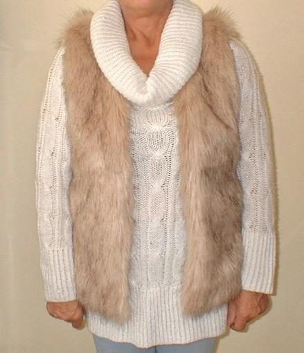 Fawn Musquash Faux Fur Gilet