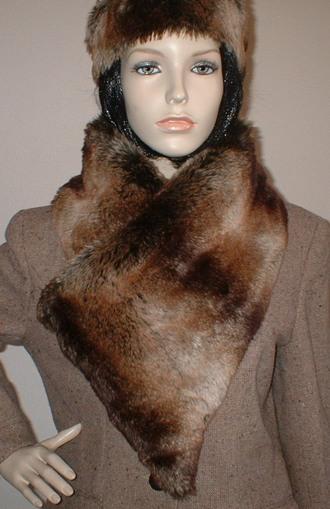 Madagascar Faux Fur Vintage Asymmetric Scarf