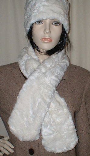Ivory Astra Faux Fur Pull Through Scarf