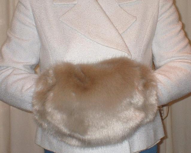 Honey Blonde Faux Fur Muff