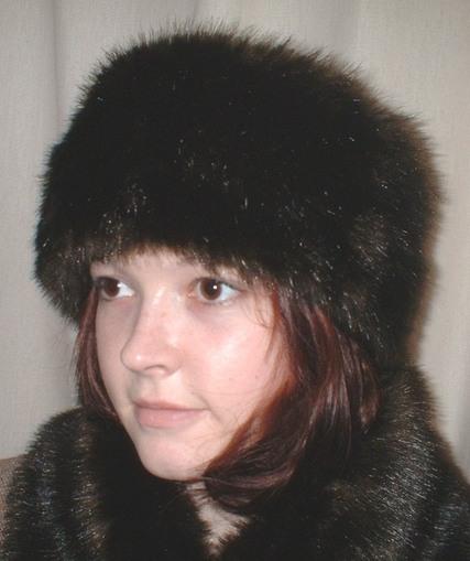 Mahogany Mink Faux Fur Headband
