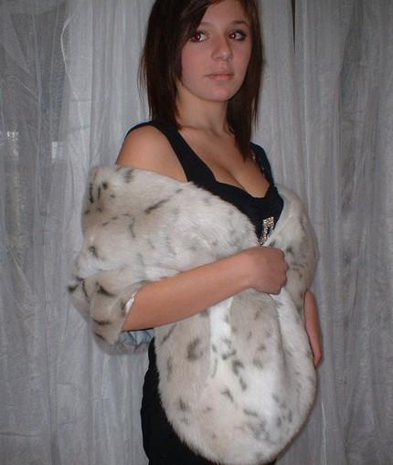 Lynx Faux Fur Stole