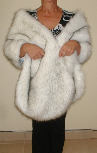Alaska Faux Fur Long Stole