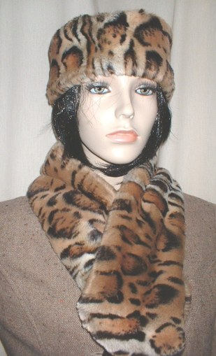 Jaguar Faux Fur Neck Scarf