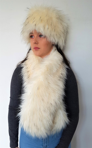 Himalaya Faux Fur Pull Through Scarf