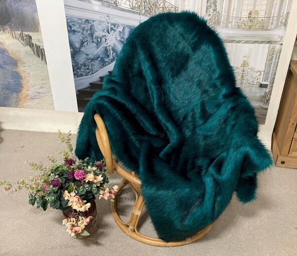 SALE Jade Faux Fur Throw with Velboa