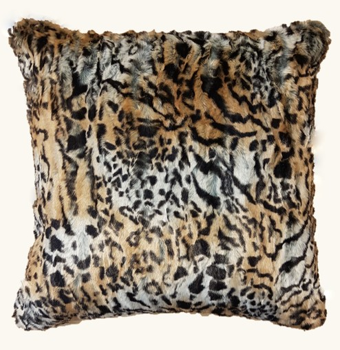 Jungle Cat Faux Fur Cushions