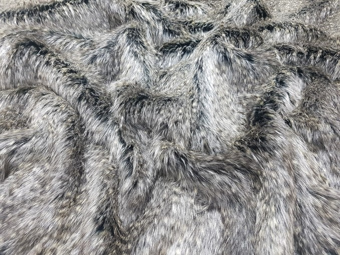 Kodiac Grey Faux Fur Swatch