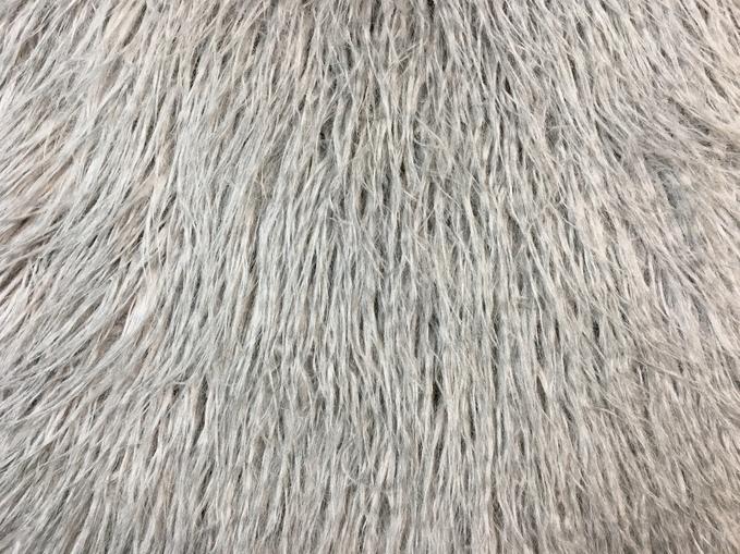 Mongolian Grey Faux Fur Swatch