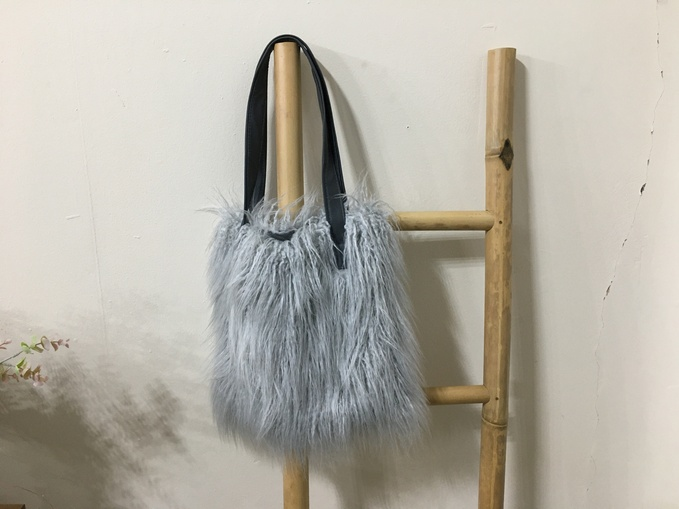 SALE Faux Fur Tote Bags