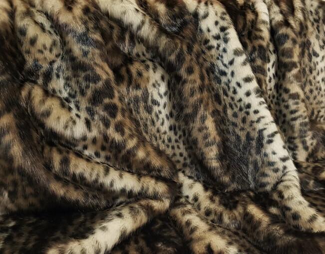 New Ocelot Faux Fur Fabric Per Meter