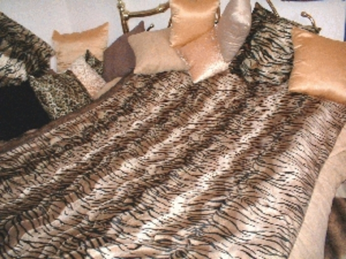 Tiger Animal Print Faux Fur Fabric Per Meter
