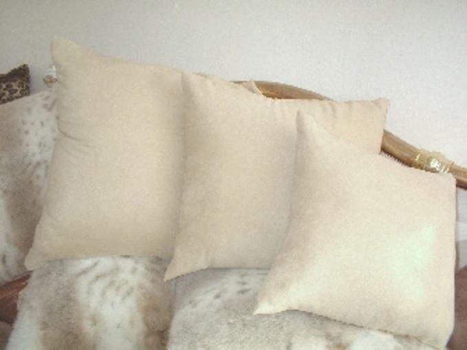 Cream Faux Suede Cushions