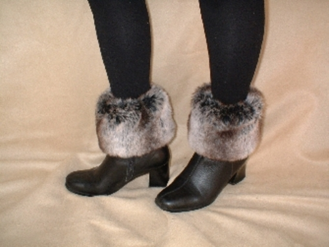 Chinchilla Faux Fur Boot Toppers