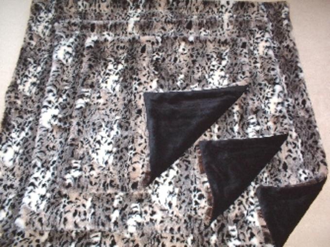 Wild Cat Faux Fur Pet Blankets