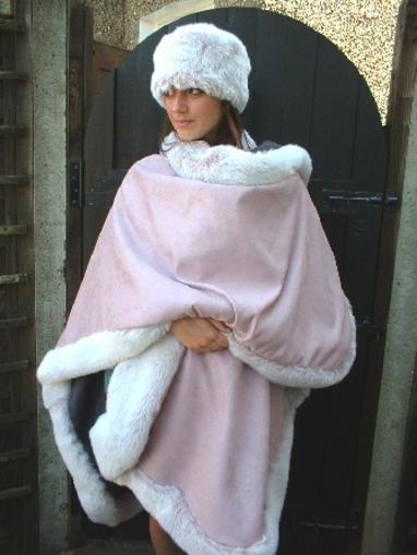 Pastel Pink Faux Suede fabric per meter