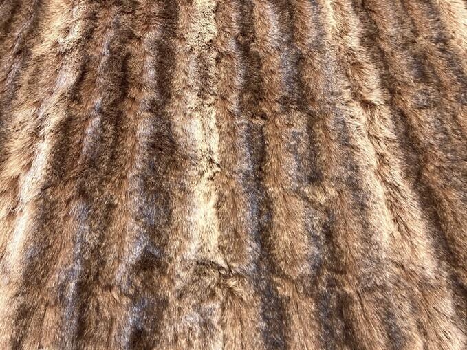 Russian Sable Faux Fur Fabric Per Meter
