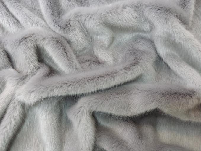 Silver Mink Faux Fur Fabric Per Meter
