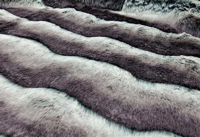 Silver Wave Faux Fur Trims