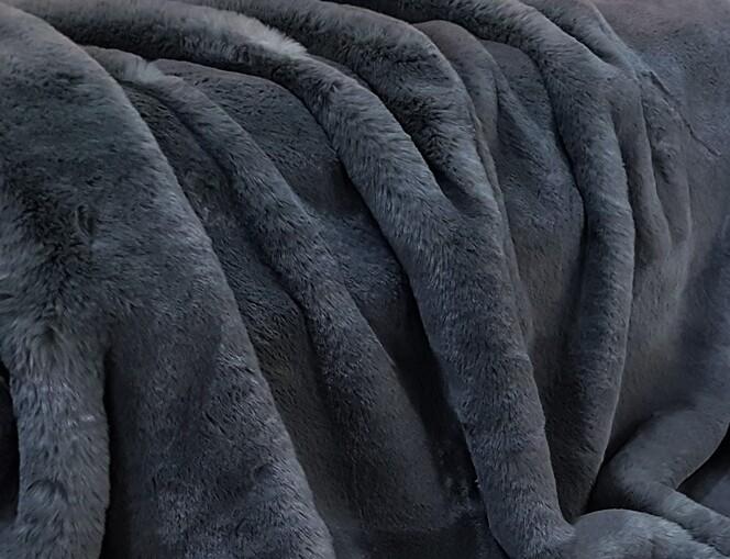 Slate Grey Faux Fur Fabric Per Meter