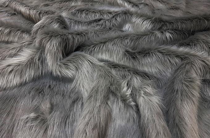 Steel Grey Faux Fur Swatch