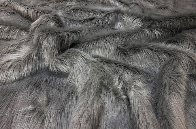 Steel Grey Faux Fur Throws