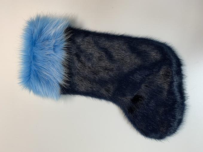 SALE Faux Fur Christmas Stocking