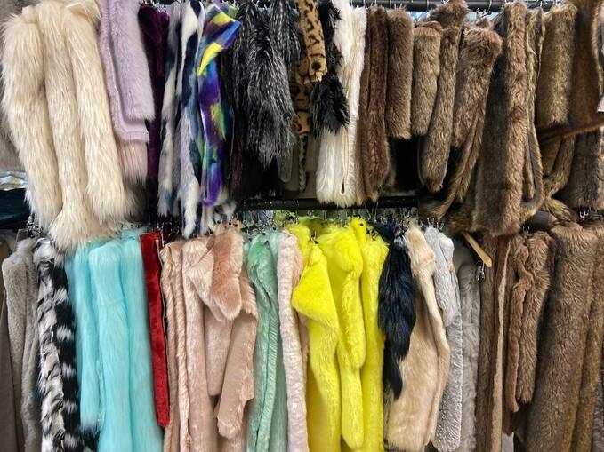 Box of Faux Fur Pieces: TISSAVEL