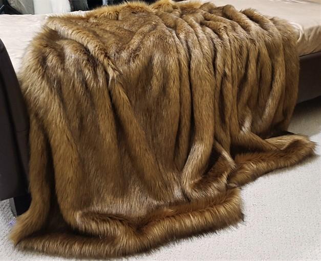 Umber Faux Fur Throws