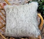 SALE Aspen Faux Fur Throw with Graphite Velboa