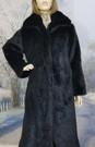 SALE Black Mink Faux Fur Long Coat size 8