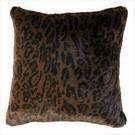 Dark Leopard Faux Fur Cushions