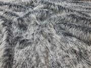 SALE Egyptian Mau Faux Fur Throw with Graphite Velboa