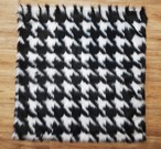 Tissavel Houndstooth Faux Fur Pet Blankets