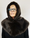 Mahogany Mink Faux Fur Zipped Hood