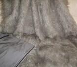 Mongolian Grey Faux Fur Fabric Per Meter