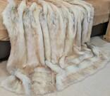 Snow Wolf Faux Fur Fabric Per Meter
