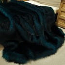 Tissavel Teal Faux Fur Fabric