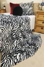 Zebra Faux Fur Swatch